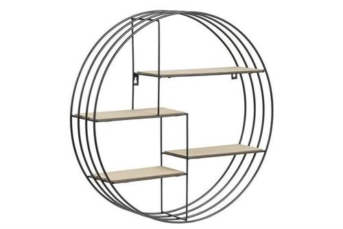 ACTONA shelf DARKEBERG black - MDF, metal