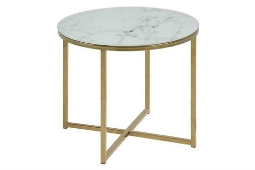 ACTONA table ALISMA 50 - glass, golden base