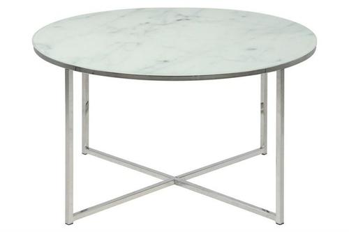 ACTONA table ALISMA 80 - glass, chrome legs
