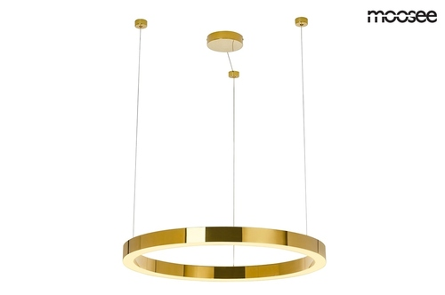 MOOSEE pendant lamp RING LUXURY 70 gold - LED, chrome gold