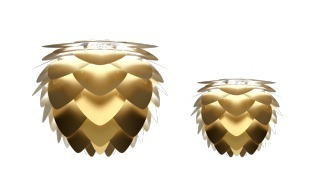 Pendant lamp UMAGE Aluvia brushed brass Ø59