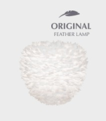 Pendant lamp UMAGE Aluvia Eos Evia Medium Ø 40 with feathers