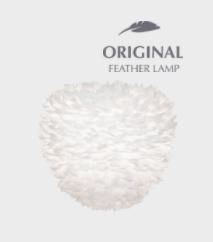 Pendant lamp UMAGE Aluvia Eos Evia Medium Ø 40 with feathers