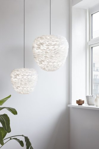 Pendant lamp made of feathers UMAGE Aluvia Eos Evia Large Ø 55