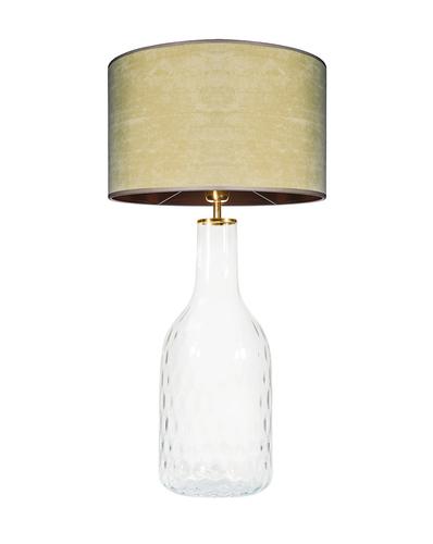 Glass table lamp Famlight Alor Transparent olive / brown E27 60W handmade
