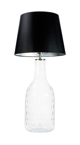Handmade lamp Famlight Alor Transparent black / silver E27 60W transparent bottle