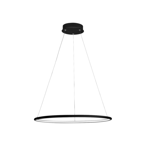 Orion Black 22W Led pendant lamp
