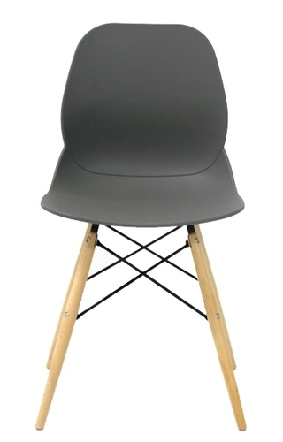 LEAF DSW PREMIUM gray chair - polypropylene, beech base