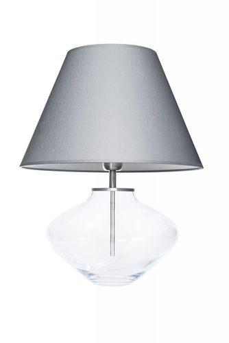 Dresser lamp Bali Transparent Gray / White Famlight E27 60W handmade