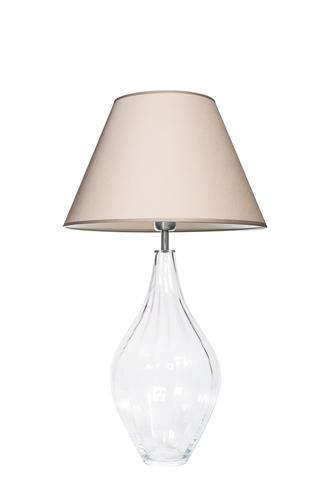 Glass table lamp Borneo Optic Transparent Famlight beige / white E27 60W