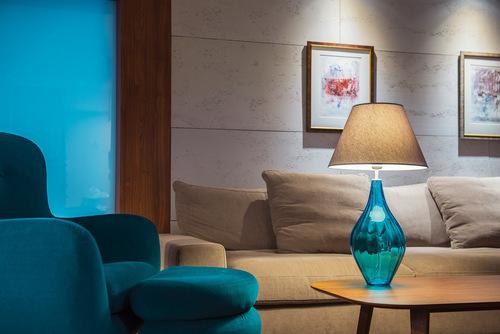 Modern table lamp Borneo Aquamarine Famlight E27 60W handmade