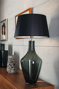 Ceylon S Gray Famlight E27 60W dresser lamp, hand-made small 3