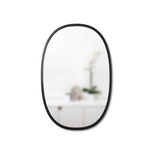 UMBRA hanging mirror HUB OVAL 24x36 -black