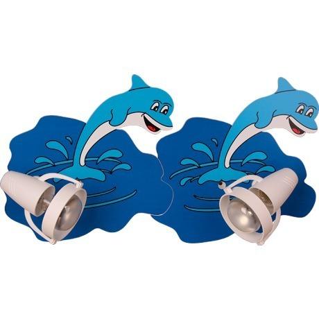 Two splashing dolphins 522.22.08