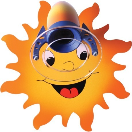 A wall lamp in the shape of a joyful sun 511.11.08