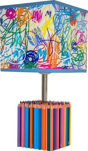 Children's table lamp Colorful Crayons