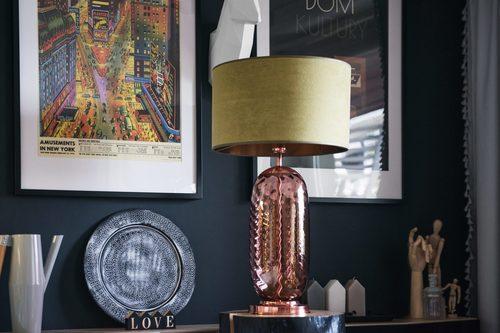 Stylish table lamp Chloe Lister Brown Famlight E27 60W