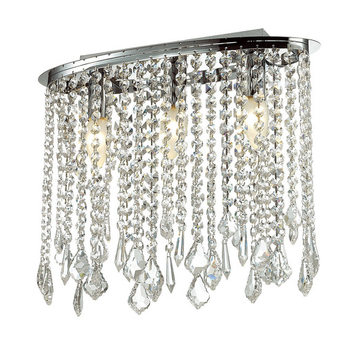 Classic Ceiling Lamp with Kaas E14 3-point Crystals