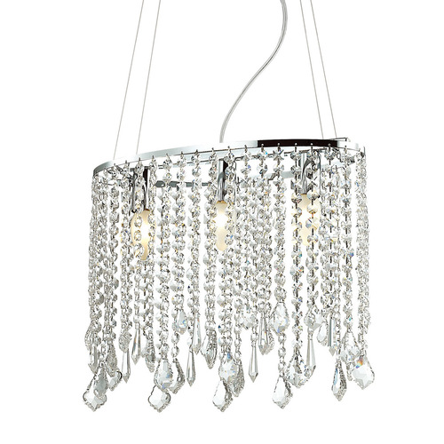 Classic Hanging Lamp with Crystals Kaas E14 3-bulb