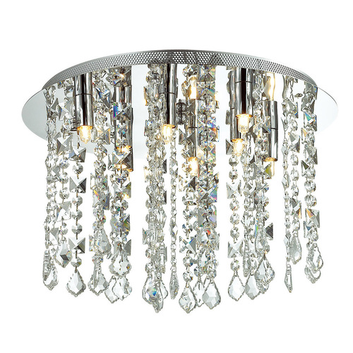 Classic 8-point Shiraz G9 Crystals Ceiling Lamp