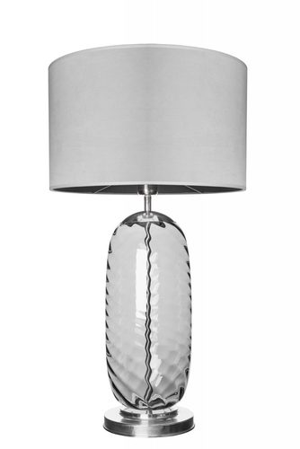 Stylish table lamp Chloe Lister Gray Famlight gray / stainless steel E27 60W