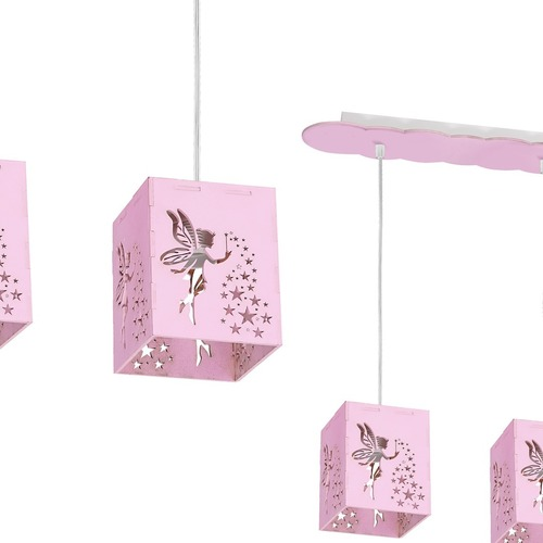 Hanging lamp Fairy Pink 3x E27 60 W