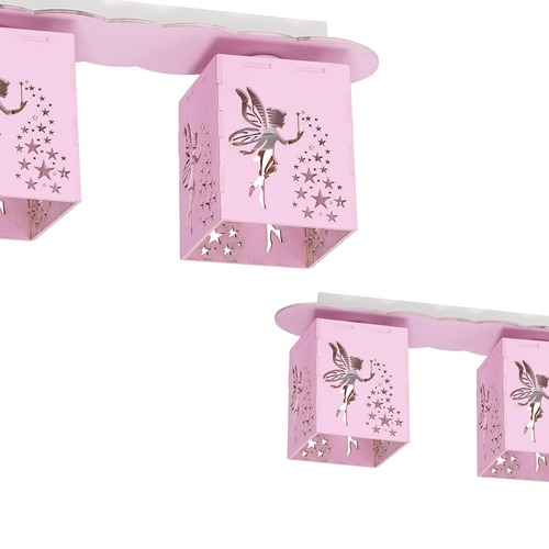 Ceiling lamp Fairy Pink 3x E27 60 W