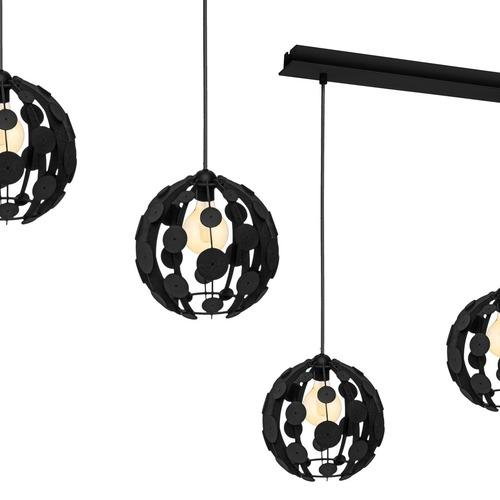 Hanging lamp Gaia Brown / Wood 3x E27 60 W