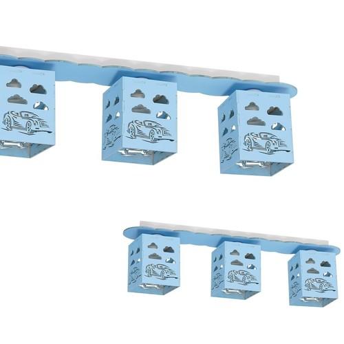 Ceiling Lamp Rally Blue 3x E27 60 W