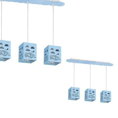 Hanging lamp Rally Blue 3x E27 60 W