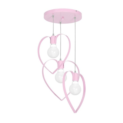 Hanging Lamp Amore Pink 3x E27