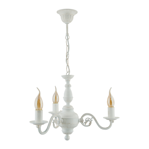 LONDON 3-arm chandelier (white)