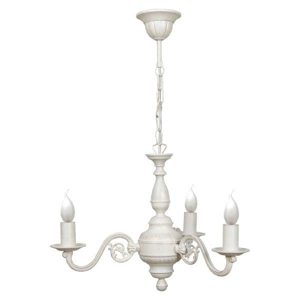 LONDON 3-arm chandelier (white)