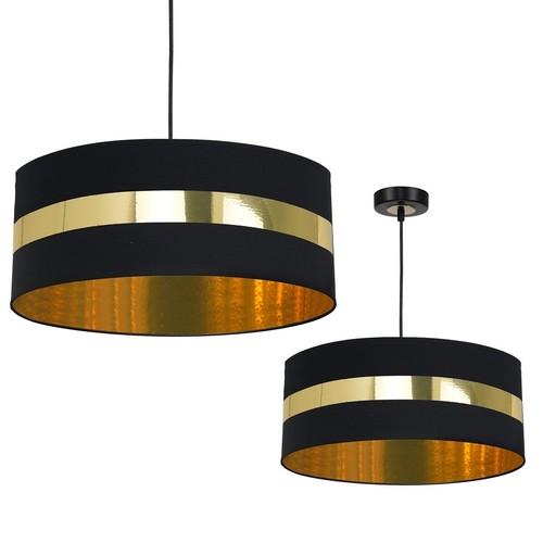 Hanging lamp Palmira Black / Gold 1x E27 60 W