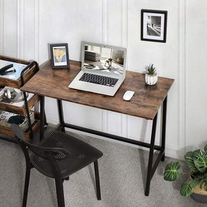 Rustic Brown Computer Desk LWD40X small 4