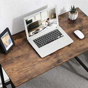 Rustic Brown Computer Desk LWD40X small 5