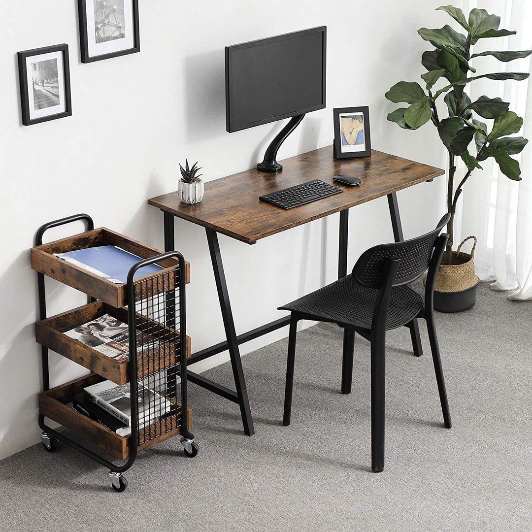 Rustic Brown Computer Desk LWD40X
