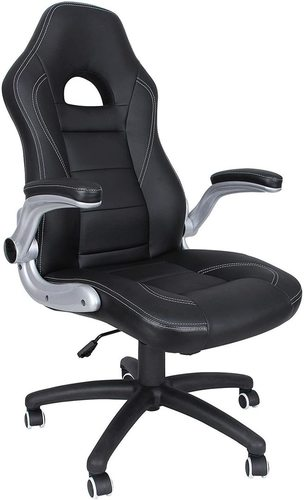 Office chair with headrest black / gray OBG28B Songmics
