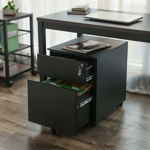 Black OFC50BK Songmics file cabinet