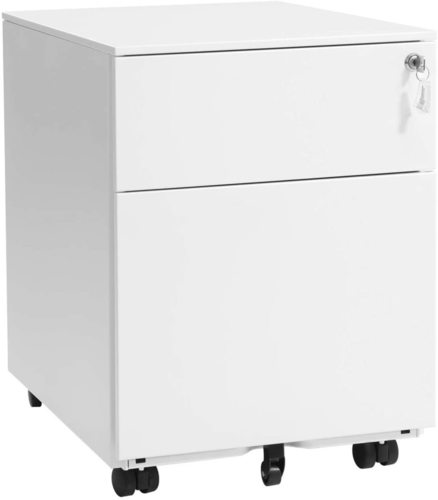 White File Cabinet with a lock OFC50WT