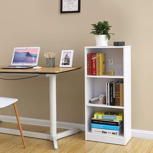 White bookcase LBC103W Songmics