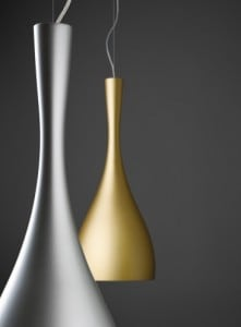 Hanging lamp Vibia Jazz 1336 gold color small 0
