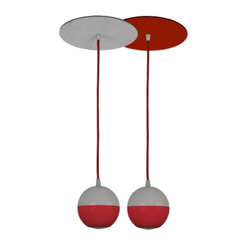 Hanging lamp 2xGU10 PETARD red Red