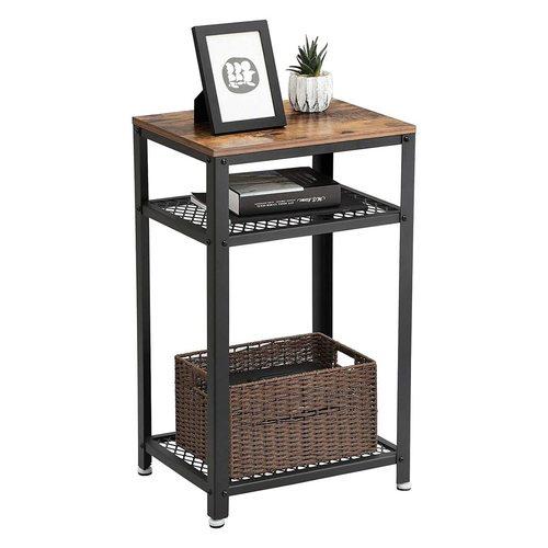 Coffee / bedside table retro loft black / rustic brown LET75BX VASAGLE