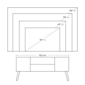 TV cabinet LTV08BX small 4