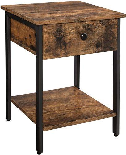 LET55BX VASAGLE retro loft bedside table