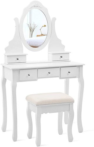 White dressing table with mirror RDT09W