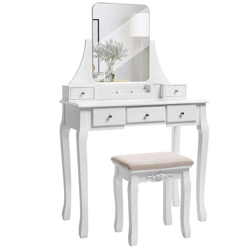 White Dressing Table with Mirror RDT25WT