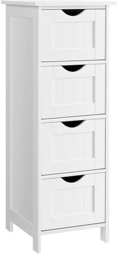 LHC40W White Bathroom Cabinet / Drawers