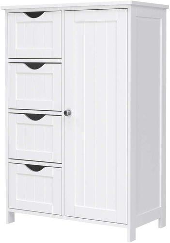 LHC41W White Bathroom Cabinet